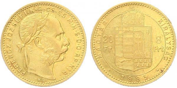 František Josef I., 8 Zlatník 1885 KB