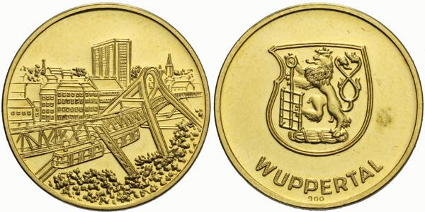 Německo, Medaile b.l. - Medaile města Wuppertal, b.k.