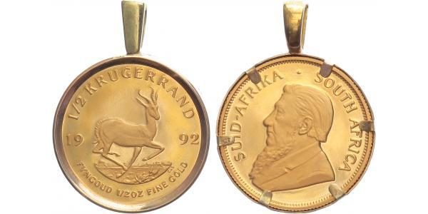 Jihoafrická republika, 1/2 Krugerrand 1992, Au 0,917 (16,965 g), 1/2 Oz