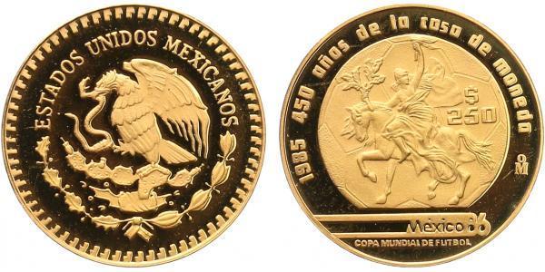 Mexiko, 250 Pesos 1985 - Au 0,900, 23 mm (8,64 g)